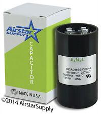 88-108 uF x 220 / 250 VAC • BMI # 092A088B250BD4A Motor Start Capacitor • USA