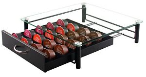 Dolce Gusto Coffee Capsule Storage Drawer Tempered Glass Top (20 Capsules)