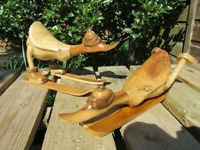 More details for fair trade hand carved wooden duck ski snowboard ornament sculpture statue
