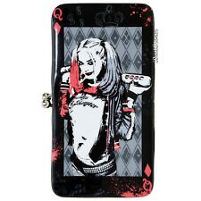 DC Comics Suicide Squad Harley Quinn Kisslock Hinge Wallet w/ Zipper pouch NEW