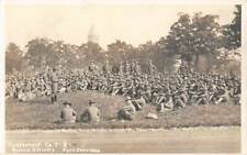 Fort Sheridan, Il, 2 Real Photo Pcs Reserve Officers Meeting & On Horses 1907-20