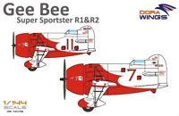 Gee Bee Super Sportster R1&R-2 (2 in 1) << Dora Wings #14402, 1:144 scale