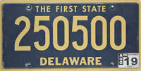 Delaware  License Plate, Original  Nummernschild  USA  250500  ORIGINALBILD