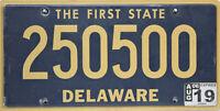 Delaware  License Plate, Original  Nummernschild  USA  250500  ORIGINALBILD