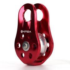 Poulie pour Alpinisme Escalade équipement 20kN Type Fixe Rouge