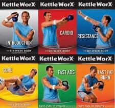 KETTLEWORX KETTLEBELL WORKOUT 6 DVD SET NEW & BONUS EBOOK ON CD