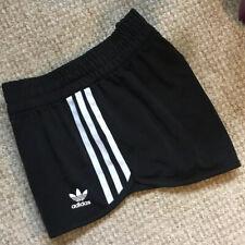 Adidas Women's Shorts 3 Stripes Black Size 8