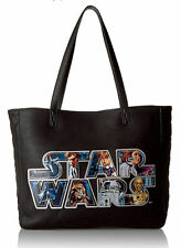 Loungefly Star Wars Applique Logo Vegan Faux Leather Princess Leia Tote Bag