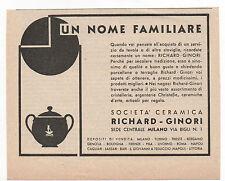 Pubblicità 1934 RICHARD GINORI CERAMICA reklame advertising werbung publicitè