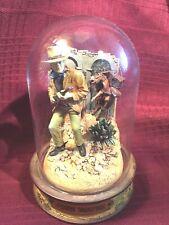 Franklin Mint, Glass Domed John Wayne Movie Collectible-Cpo5323 Gun & Cactus