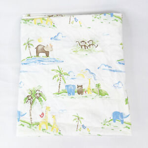 Pottery Barn Kids Jungle Friends Nursery Bedding Crib Sheets and Crib Bed Skirt