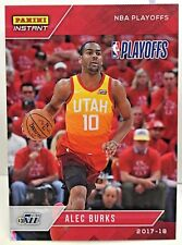 Alec Burks 2017-18 Panini Instant NBA Playoffs #133 - SP /110 - UTAH JAZZ
