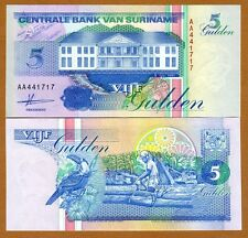 Suriname /  Surinam, 5 Gulden, 1991, P-136 (136a), AA-Prefix, UNC