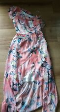 Lipsy BNWT Ladies One Shoulder Print Maxi Dress Coral Floral Size 6