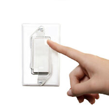 Dual Option Wall Switch Guards (9 Pack) Clear Rocker Style