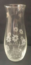 Vintage Pcscbchce Glass Vase Flower Floral pattern Made in Turkey