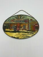 """VINTAGE """"RARE"""" Coca Cola Coke Bottle Stained Glass Wall Hanging Art Sign 9"""""""