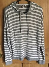 Cable And Gauge Hooded Jumper Ladies Size M