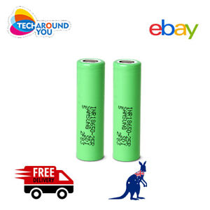 2x Samsung 25R 2500mAh INR Lithium Rechargeable Battery 20A High Drain Authentic