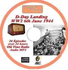 D-Day Landing 6th June 1944 WW2 Old Time Radio Broadcast OTR MP3 CD