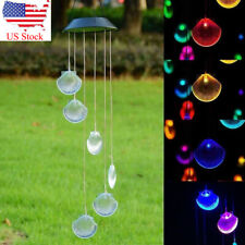 Solar Color Changing Shell Wind Chimes Home Garden Decor Party Led Light Lamp