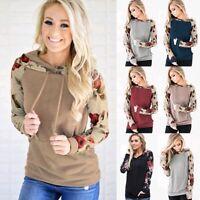 Plus Size Women Hoodie Long Sleeve Pullover Sweater Sweatshirt Jumper Top Lot