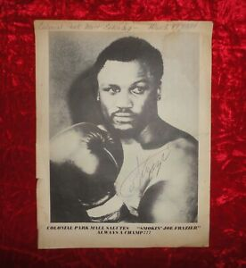 SMOKIN' JOE FRAZIER 1984 Signed Autographed Picture -- NO CERTIFICATION COA