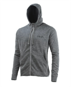 "Huk Hull Full Zip Fleece ""True Grey Heather"" 2XL"