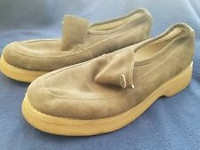 Mens brown kangol slip on loafers shoe size 10