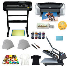 New Heat press, Vinyl Cutter  ,Printer,Ink ,Paper T-shirt Transfer Start-up Kit