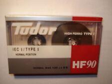VINTAGE TUDOR HF 90 / BLANK AUDIO CASSETTE TAPE - BRAND NEW & FACTORY SEALED