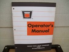 Original Oliver Operaters Manual ; 3600 Tool Bar Carrier