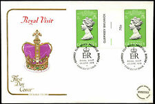Guernsey 1978 Royal Visit Gutter Pair FDC First Day Cover #C38694