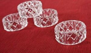 Crystal Look Acrylic Napkin Rings