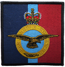 Royal Air Force RAF Insignia Crest MOD Square Embroidered Patch