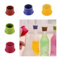 5-20pcs Silicone Bottle Cap Cover Lid Stopper Cork Wine Glass Beer Saver Capsule