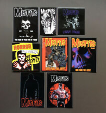 THE MISFITS 8-Pack of RARE Stickers NEW OFFICIAL MERCHANDISE Danzig RRP$42.80