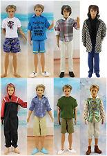 Lot 8 PCS Fashion Outfits/Clothes For Barbie's boy friend Ken Doll