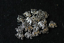 Tibetan style mini elephant charms - novelty charms - jewellery making