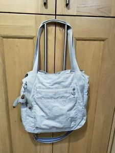 Kipling Grey Large Bag,Tote Style With Multicolour Strap ,Anaya Monkey