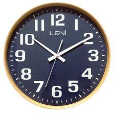 Leni Wood Wall Clock Navy - Large 40.5cm