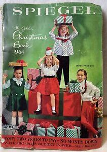 Vintage 1964 Spiegel Golden Christmas Book Catalog