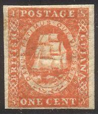 BRITISH GUIANA #8 RARE Mint - 1853 1c Vermilion