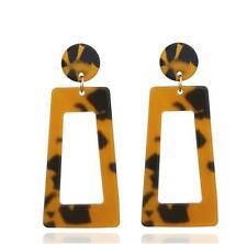 UK Leopard Geometric  Acrylic Drop Dangle Earrings Large Resin Ear Studs Women