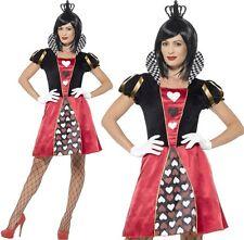 Smiffys Costume Regina delle carte Rosso con Abito Corona e Guanti (c2b)