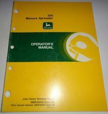*John Deere 350 Manure Spreader Operators Manual Original Omw38955 B0