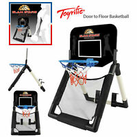 Toyrific Kids Slam Stars Door To Floor Junior Indoor Basketball Net Set w/ Ball
