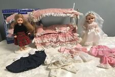 VINTAGE 1980's GINNY DOLLS OUTFITS Bride Stands Bed Canopy Accessories