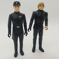 Vintage Star Wars Action Figure Lot of 2 - Luke Skywalker and Imperial Commander