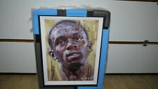 ORIGINAL ZINSKY OIL ON CANVAS OF USAIN BOLT !!